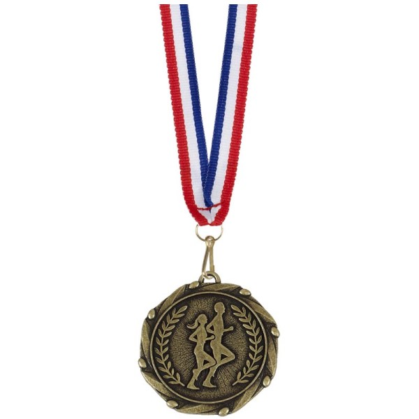 Combo Running Sillouette Medal and Ribbon