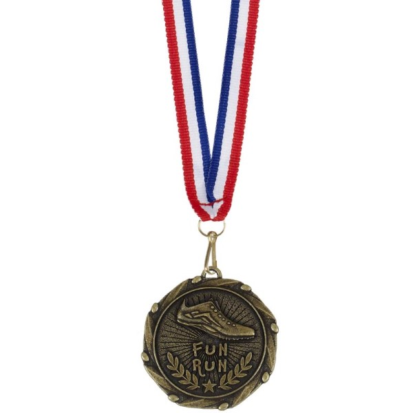 Combo Fun Run Medal and ribbon