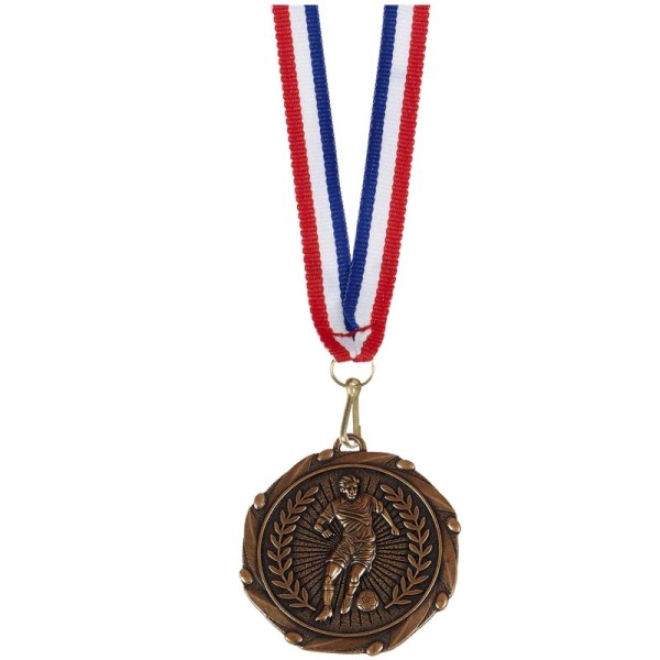 Combo Football Player medal and ribbon Bronze