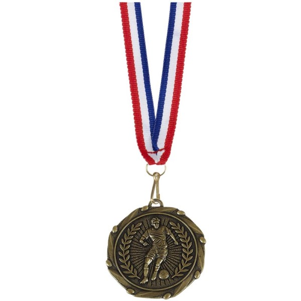 Combo Football Player medal and ribbon Gold