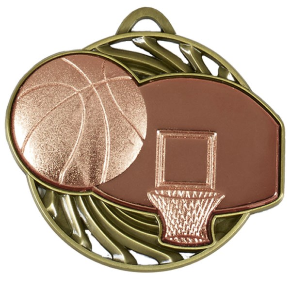 Vortex Basketball Medal Bronze