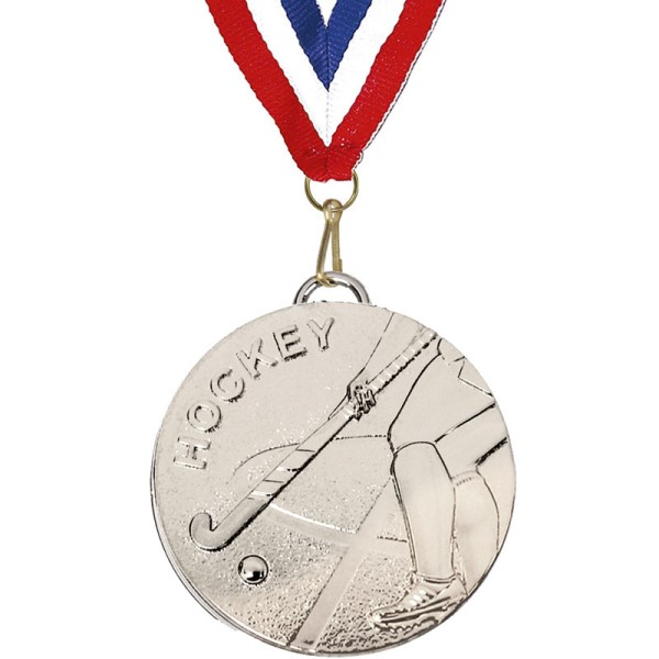 Target 50mm Hockey Medal with Ribbon