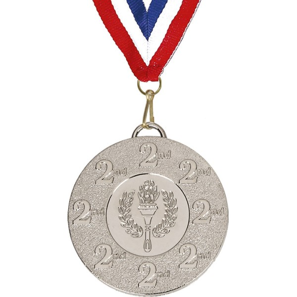 Target 50mm 2nd Medal with 22mm Ribbon