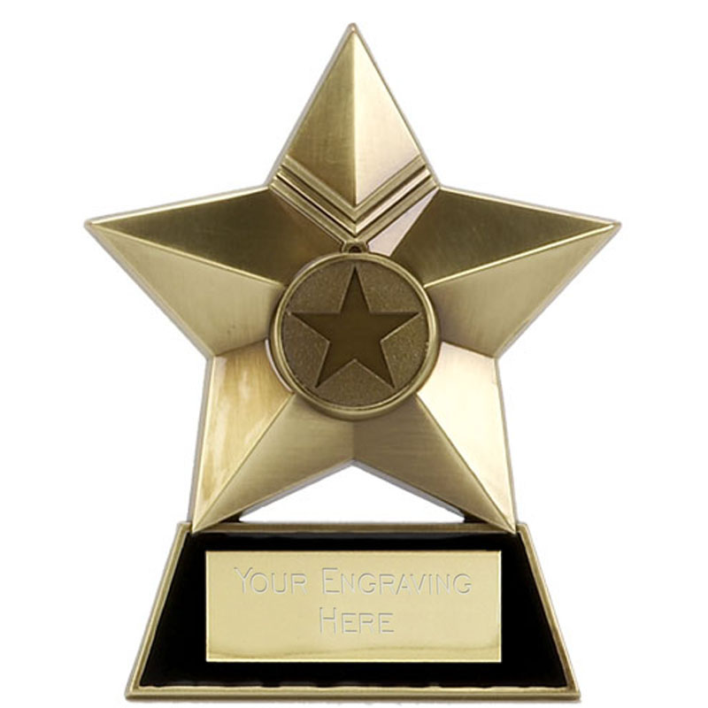 Metal Star Plaque Award Bronze