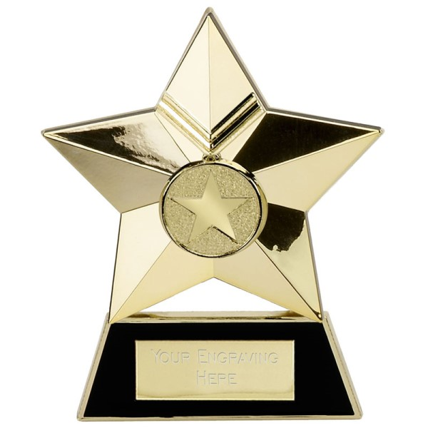 Metal Star Plaque Award Gold