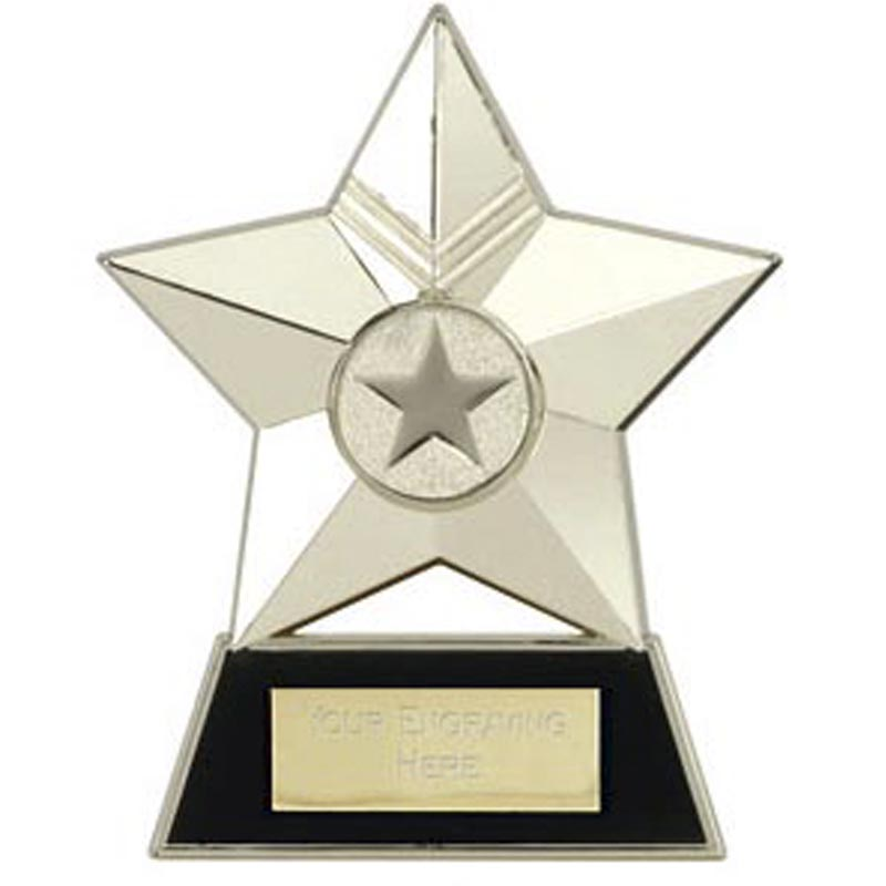 Metal Star Plaque Award Silver