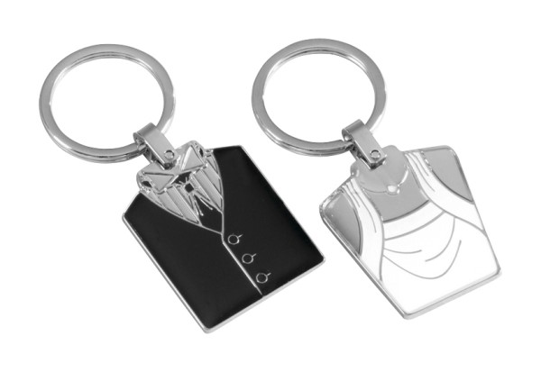 His n Hers Wedding Keepsake Favour Keyring