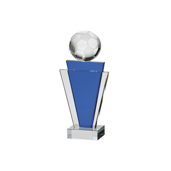 Gauntlet Football Crystal Award 155mm