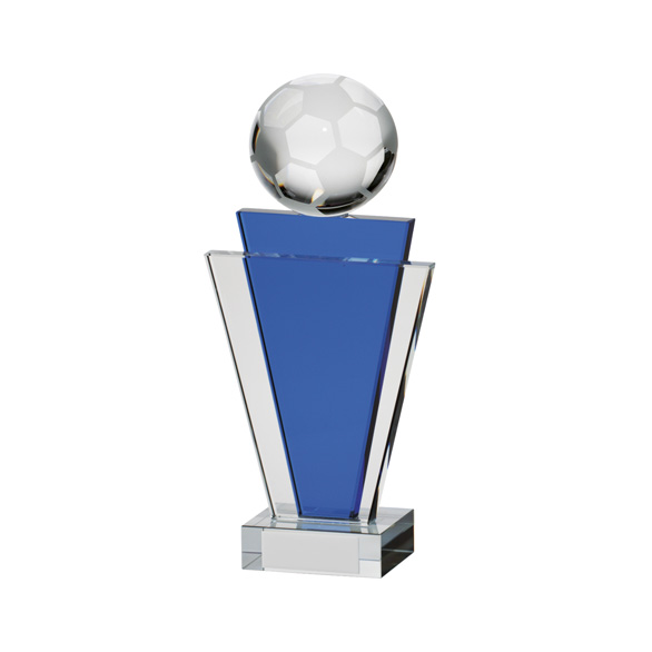 Gauntlet Football Crystal Award 180mm