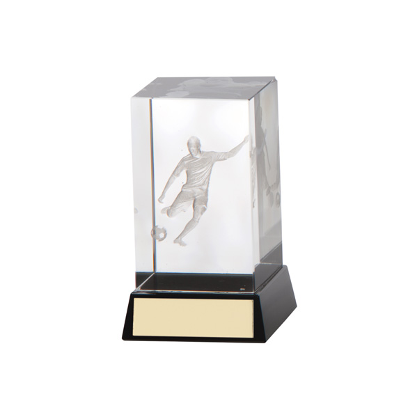 Conquest Football Crystal Award 80mm