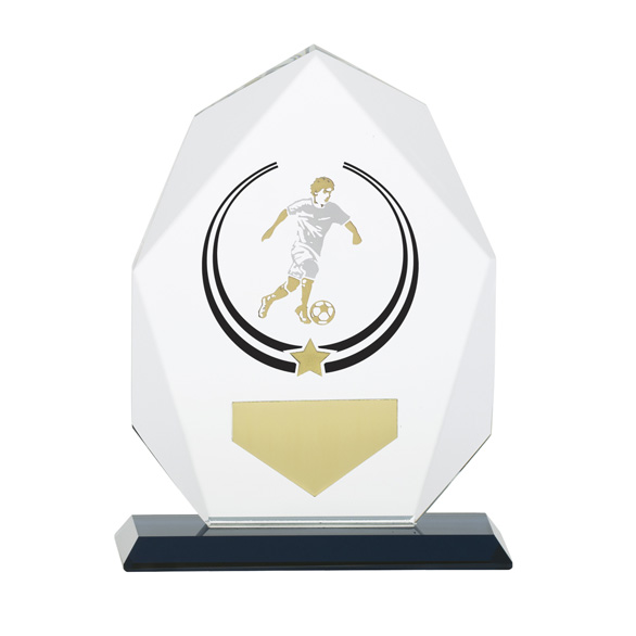 Glacier Football Glass Award 160mm