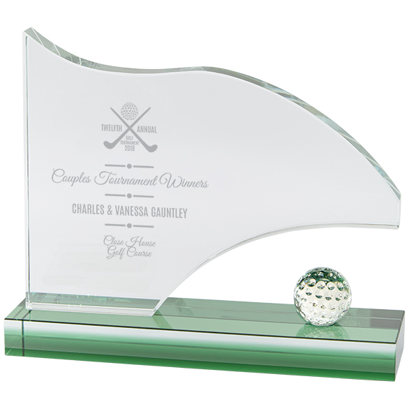 Royal Golf Jade Glass Award 160mm