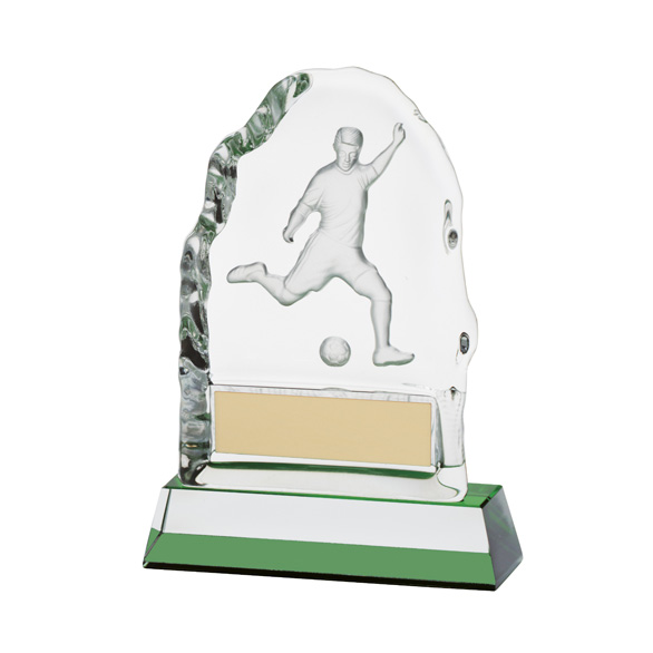 Challenger Football Crystal Award 130mm