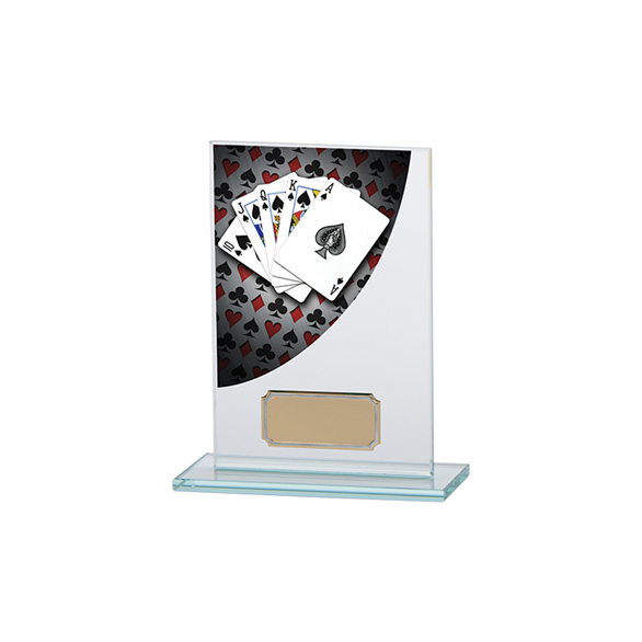 Poker Colour-Curve Jade Crystal Award 140mm