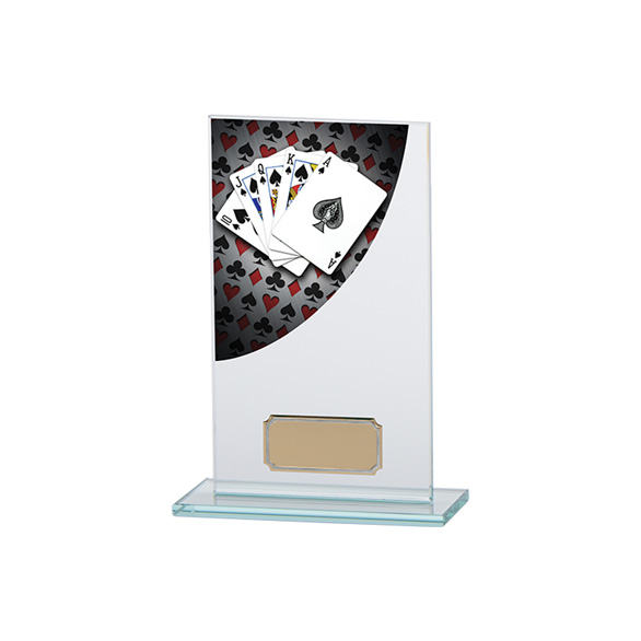 Poker Colour-Curve Jade Crystal Award 160mm