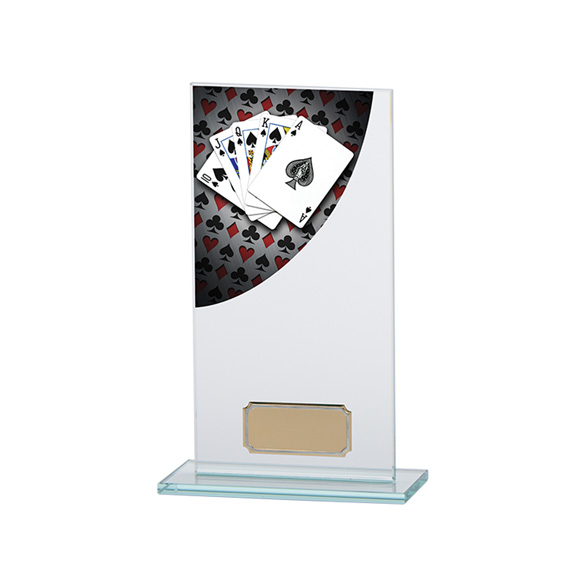 Poker Colour-Curve Jade Crystal Award 180mm
