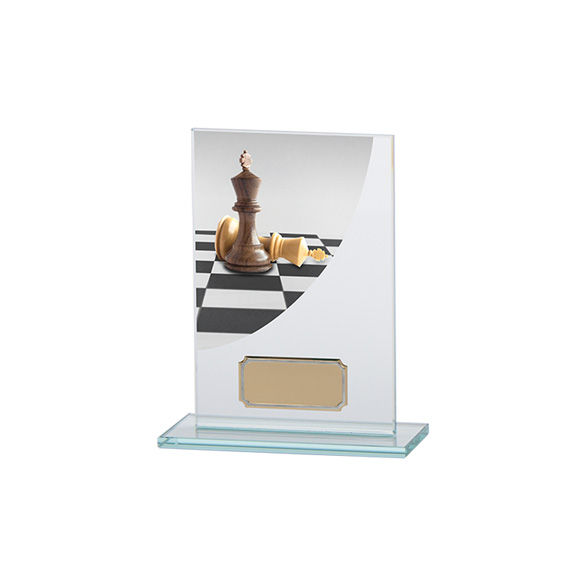 Chess Colour-Curve Jade Crystal Award 140mm