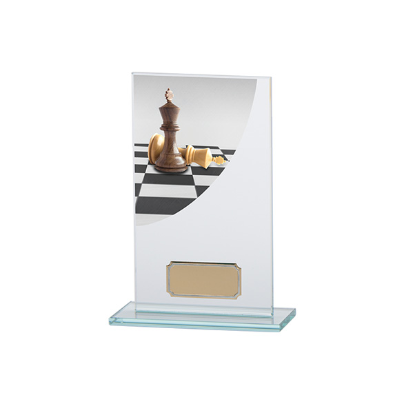 Chess Colour-Curve Jade Crystal Award 160mm