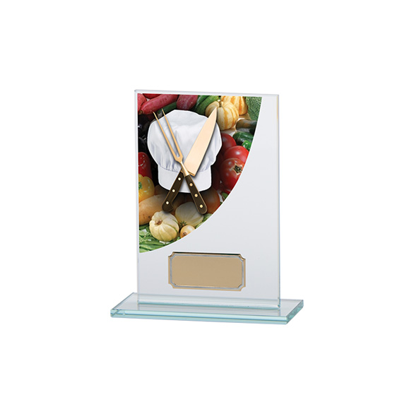 Cooking Colour-Curve Jade Crystal Award 140mm