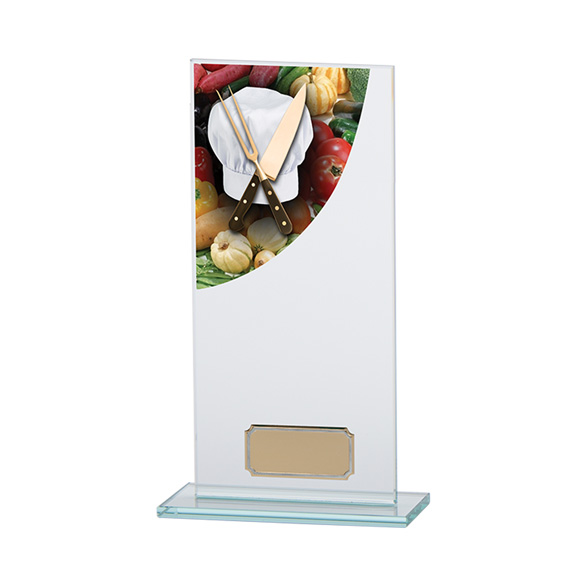 Cooking Colour-Curve Jade Crystal Award 200mm