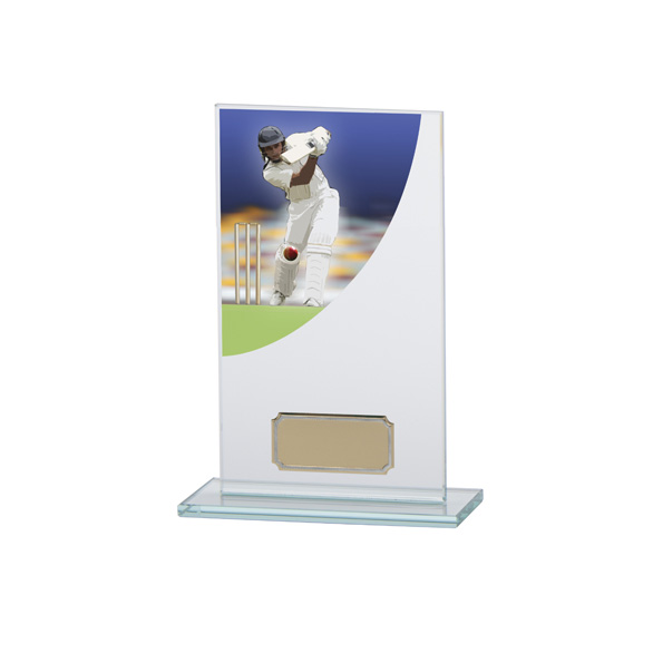 Cricket Award Colour-Curve Jade Crystal 160mm