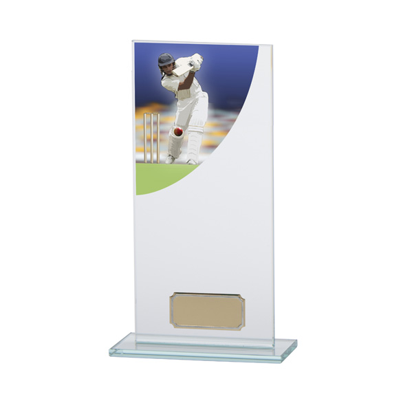 Cricket Award Colour-Curve Jade Crystal 200mm