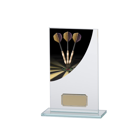 Darts Colour-Curve Jade Crystal Award 160mm
