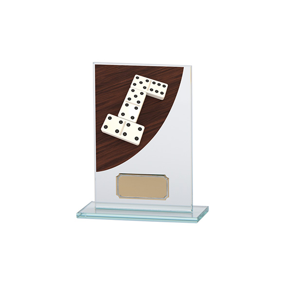 Dominoes Colour-Curve Jade Crystal Award 140mm