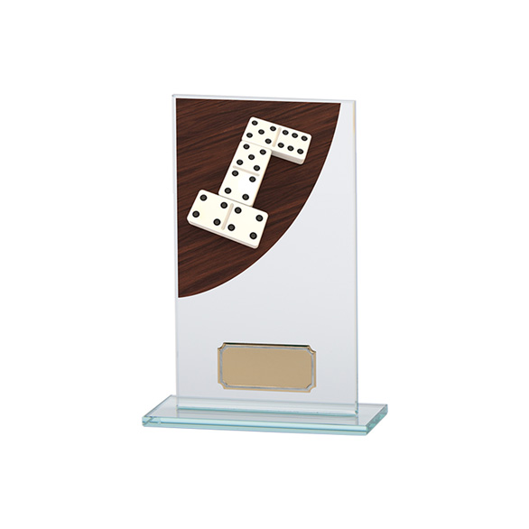 Dominoes Colour-Curve Jade Crystal Award 160mm