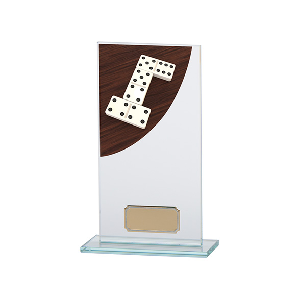 Dominoes Colour-Curve Jade Crystal Award 180mm