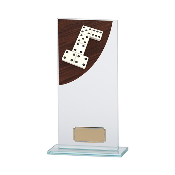 Dominoes Colour-Curve Jade Crystal Award 200mm