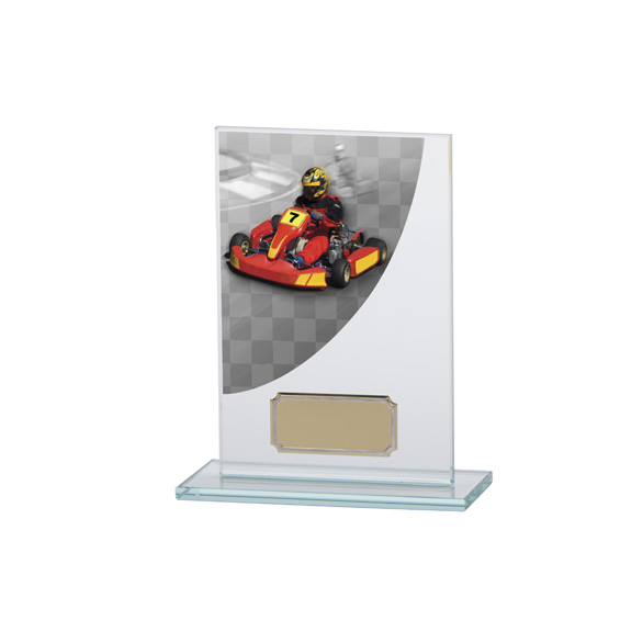 Go-Kart Colour-Curve Jade Crystal Award 140mm