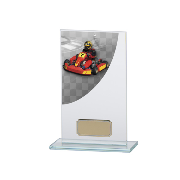 Go-Kart Colour-Curve Jade Crystal Award 160mm