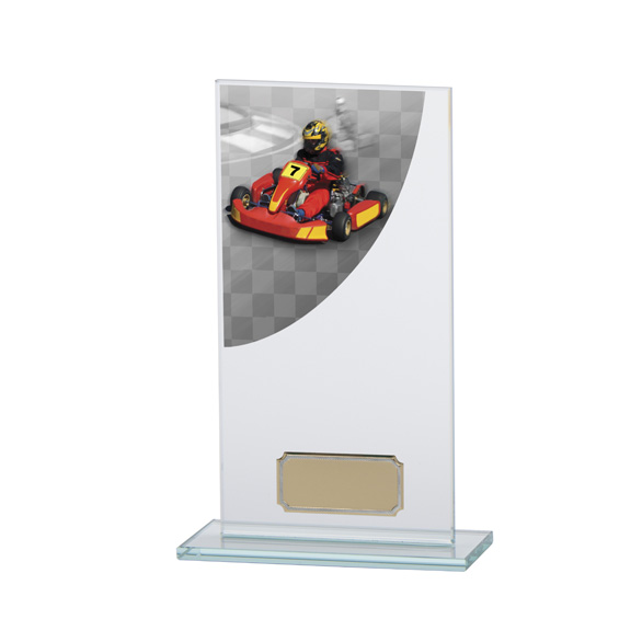 Go-Kart Colour-Curve Jade Crystal Award 180mm