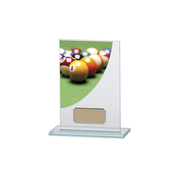 Pool Colour-Curve Jade Crystal Award 140mm