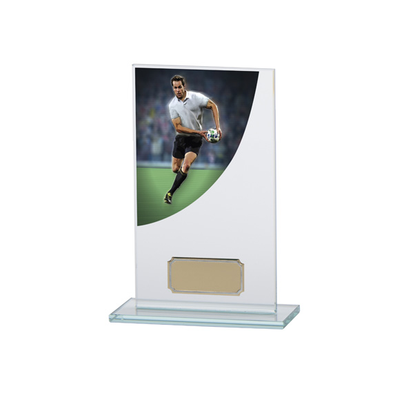 Rugby Colour-Curve Jade Crystal Award 160mm