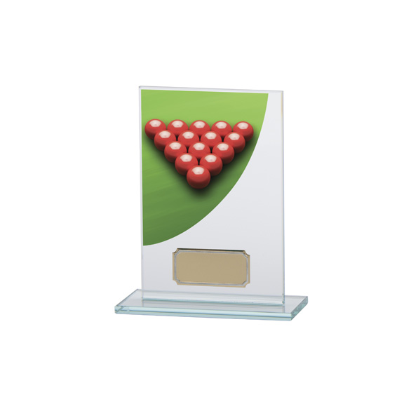 Snooker Colour-Curve Jade Crystal Award 140mm