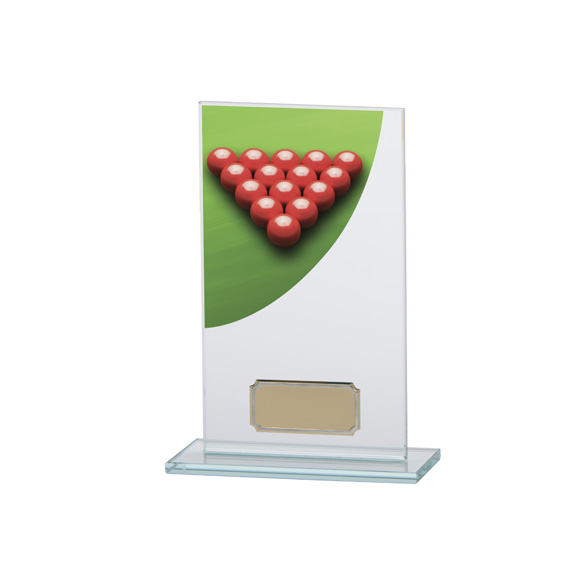 Snooker Colour-Curve Jade Crystal Award 160mm