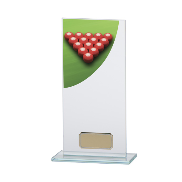 Snooker Colour-Curve Jade Crystal Award 200mm