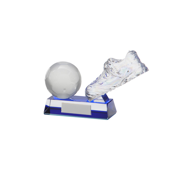 Legacy Football Boot Crystal Award 95mm