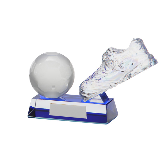 Legacy Football Boot Crystal Award110mm