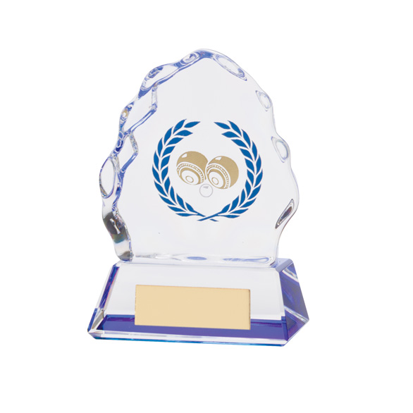 Iceberg Crystal Lawn Bowls Award 100mm