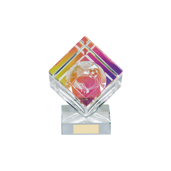 Victorious Football Cube Crystal Award 90mm