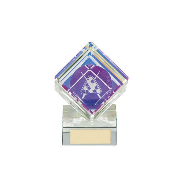 Victorious Pool Cube Crystal Award 90mm