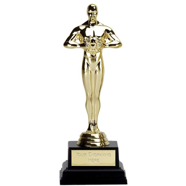 Gold Oscar Trophy on Black Base