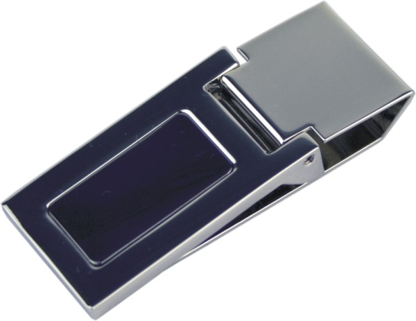 Nickel Plated Hinged Money Clip