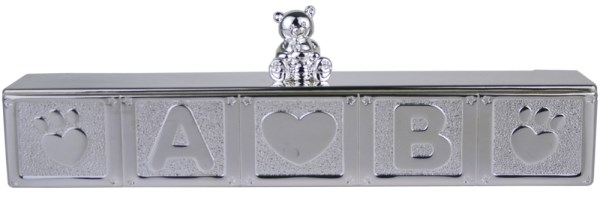 Silver Plated Baby Bear Certificate Holder