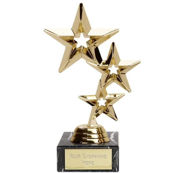 Triple Star Presentation Trophy Gold