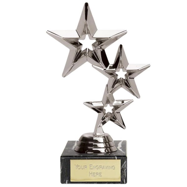 Triple Star Presentation Trophy Silver