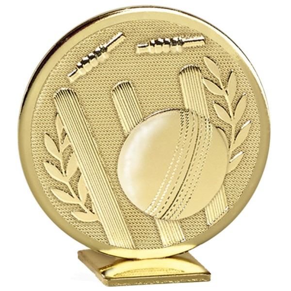 Cricket Self Standing Global Metal Trophy  - Gold